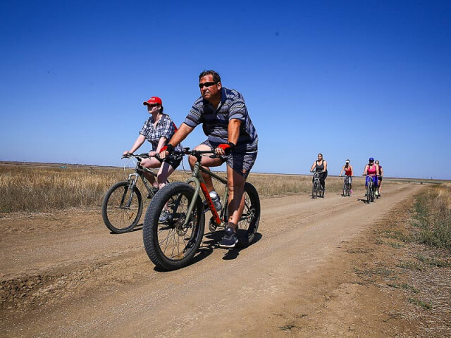 Велопробег в программе тренировочной